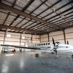King Air in Hangar - Interior