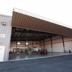 King Air in Hangar - Exterior