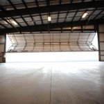 Small Hangar with Door Opening - Interior